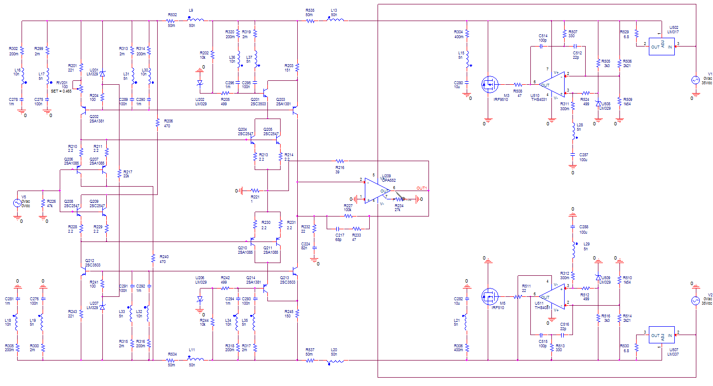 Low Noise Design Schematics Adjustable Symmetric Power Supply Schematic Diagram As Already Mentioned You Would Of Course Note That The Ccs And Folded Cascode Reference Decoupling Is Now Connected To Rails